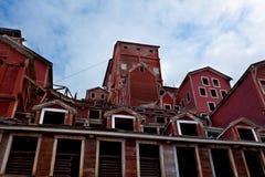 被放弃的阿拉斯加铜矿 免版税库存照片