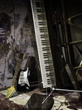 被放弃的音乐 库存照片