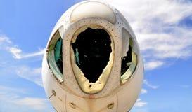被放弃的飞机 库存照片