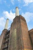 被放弃的巴特锡发电站烟囱  库存图片