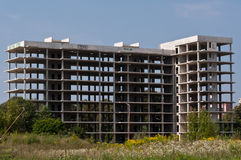 被放弃的建造场所 免版税库存图片