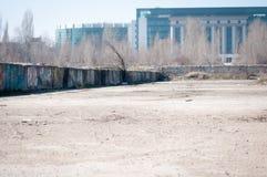 被放弃的建造场所 免版税库存照片