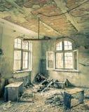 被放弃的医院在柏林附近的贝利茨Heilstaetten 免版税图库摄影