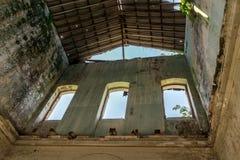 被放弃的医院在格拉纳达,尼加拉瓜 免版税库存图片