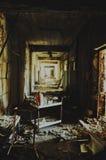 被放弃的医院在Pripyat 库存照片