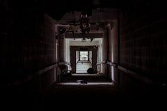被放弃的医院- Brecksville退伍军人管理局-俄亥俄 免版税库存照片