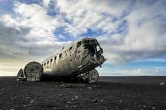 被放弃的DC-3飞机 库存图片