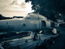 被放弃的folland蚋喷气机 免版税图库摄影