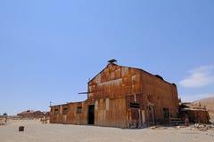 被放弃的Humberstone和圣劳拉硝石工作工厂,在伊基克附近,北智利,南美 库存照片