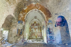 被放弃的janovas西班牙城镇 免版税库存图片