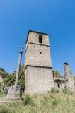 被放弃的janovas西班牙城镇 免版税库存照片