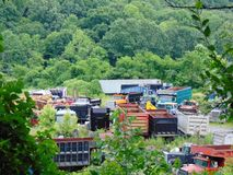 被放弃的Truck Company 库存照片