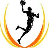 被放置的篮球  向量例证