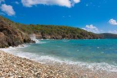 被日光照射了加勒比海滩2 免版税图库摄影