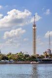 被日光照射了开罗的塔 库存图片