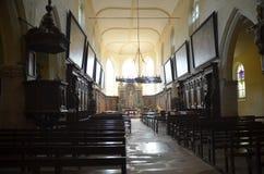 被日光照射了教会 免版税图库摄影