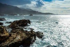 被日光照射了海景 库存图片
