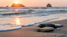 被日光照射了石头 免版税图库摄影