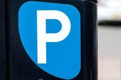 被显示的汽车概念有货币被支付的公园符号票您您 免版税库存图片