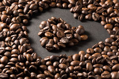 被显示的Coffe豆 库存图片
