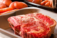 被晒干的牛肉 免版税库存照片
