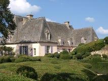 被暂停的庭院Marqueyssac 库存图片