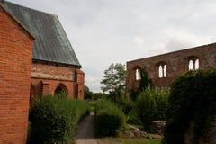 被更新的城堡废墟在波兰在朱拉 免版税库存照片