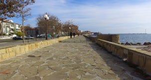 被更新的波摩莱堤防在保加利亚 库存照片