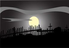 被月光照亮晚上 免版税库存图片