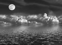 被月光照亮的秀丽 库存图片