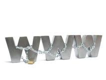 被束缚的万维网 免版税库存图片