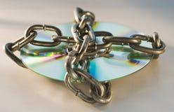 被束缚的光盘 免版税库存图片
