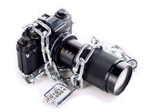 被束缚的照相机 免版税库存图片