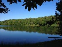 被构筑的湖 免版税库存图片