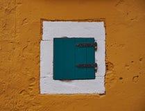 被构筑的窗口颜色 免版税库存图片