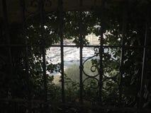 被构筑的观点的港赫丘勒在摩纳哥公国的中心 免版税图库摄影