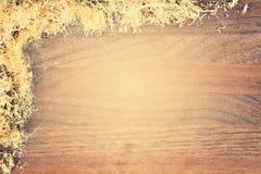 被构筑的锯木屑 免版税图库摄影