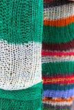 被构造的五颜六色的羊毛 免版税库存图片