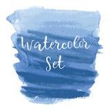 被构造的商标艺术摘要刷子被绘的水彩 皇族释放例证