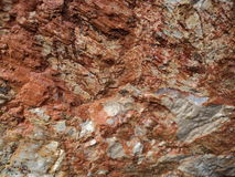 被构造的岩石 库存照片