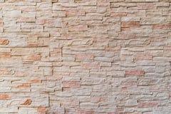 被构造的抽象石砖墙 免版税库存图片