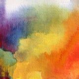 被构造的水彩艺术背景摘要彩虹愉快的五颜六色的蓝色靛蓝紫罗兰 免版税图库摄影