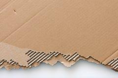 被构造的纸板老页 免版税图库摄影