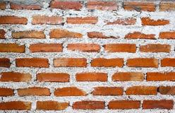 被构造的老红砖墙壁样式 抽象背景 库存图片