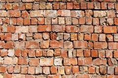 被构造的老红砖墙壁 免版税图库摄影