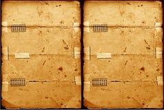 被构造的老纸张 免版税库存照片