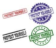 被构造的难看的东西保护自己封印邮票 向量例证