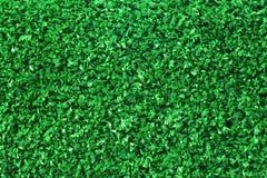 被构造的绿色塑料人为草 免版税图库摄影