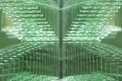 被构造的绿色玻璃的表面 免版税库存图片