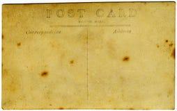 被染黄的古色古香的明信片 免版税库存照片